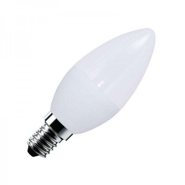 Lâmpada LED Vela E14 Frost 6W Branco Quente - 8428350650645