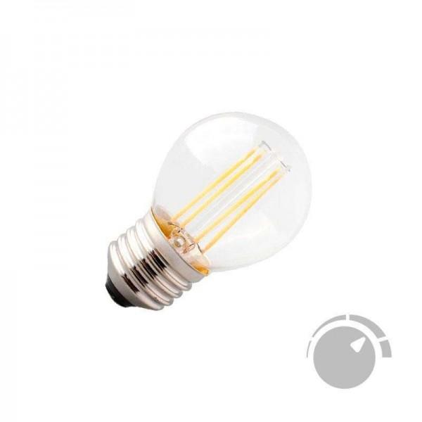 Lâmpada LED E27 COB Filamento 4W Small Branco Quente 2700K Regulável - 8428350640691