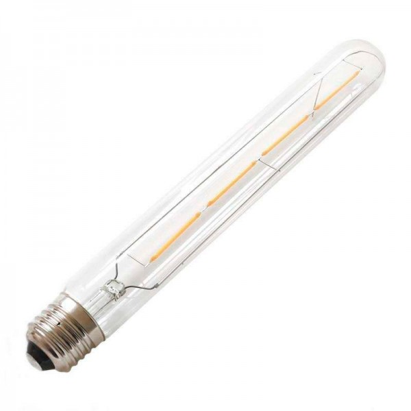 Lâmpada LED E27 COB Filamento 4W Diâmetro 30x225mm Branco Quente - 8428350640646