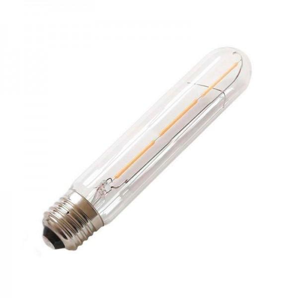 Lâmpada LED E27 COB Filamento 3W Diâmetro 30x185mm Branco Quente - 8428350640639