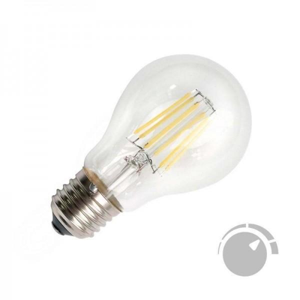 Lâmpada LED E27 COB Filamento 6W Branco Quente 2700K Regulável - 8428350640738