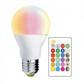 Lâmpada LED E27 10W RGB+W + Comando a Distância RGB + Branco Frio Regulável - 8435568915053