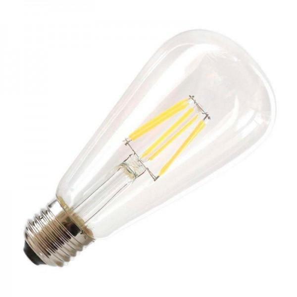 Lâmpada LED E27 COB Filamento 4W Diâmetro 64x138mm Branco Quente - 8428350640592