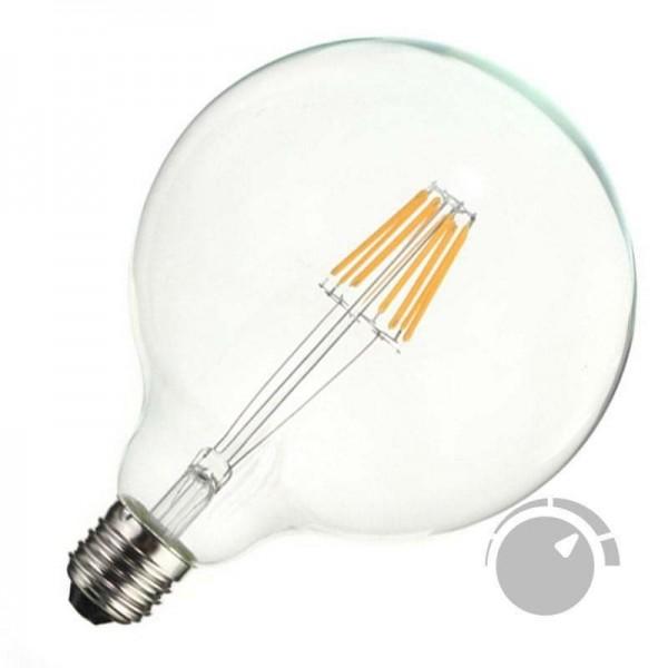 Lâmpada LED E27 COB Filamento 8W Diâmetro 125x176mm Branco Quente Regulável - 8428350640783