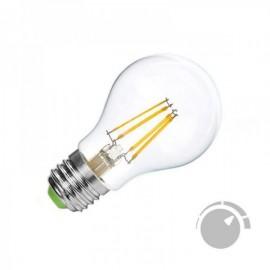 Lâmpada LED E27 COB Filamento 4W Branco Quente 2700K Regulável - 8428350640714