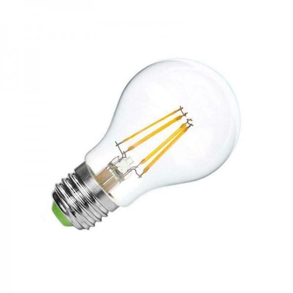 Lâmpada LED E27 COB Filamento 4W Branco Quente 2700K - 8428350630081