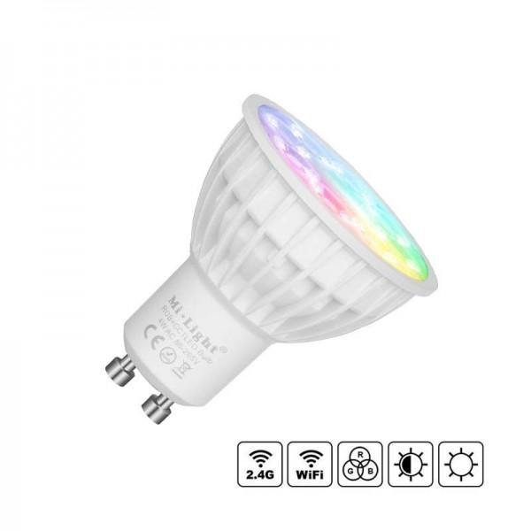 Lâmpada LED Wi-Fi GU10 Bulb 4W RGB+CCT RGB + Branco Dual Regulável - 8428350658733