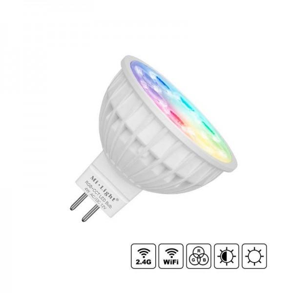 Lâmpada LED Wi-Fi MR16 Bulb 4W RGB+CCT RGB + Branco Dual Regulável - 8428350658740