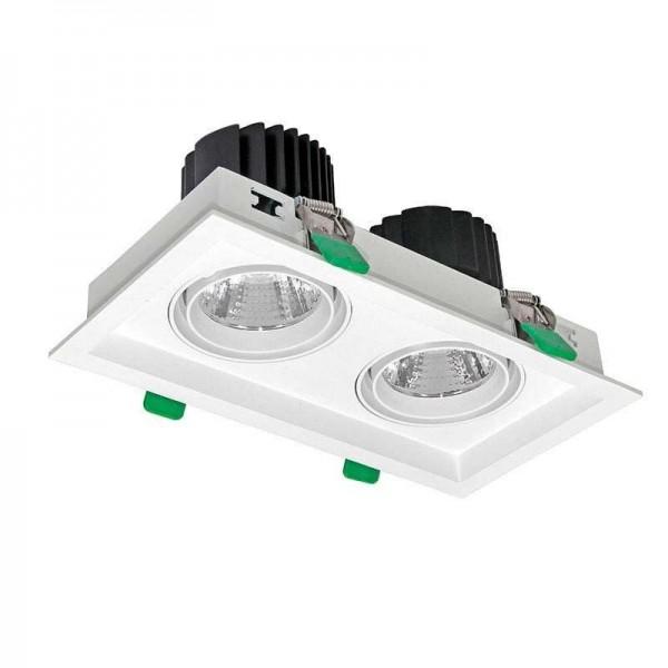 Downlight LED KARDAN 2 Focos 60W Branco Quente 2700K - 8428350629351