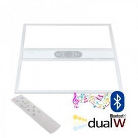 Painel LED 40W Branco DUAL + AUDIO Bluetooth RF 60x60 cm Branco Dual Regulável - 8428350658696