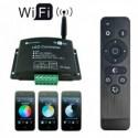 Controlador Wi-Fi-LED V03 Mono Dual RGB + RF Control - 8428350636397