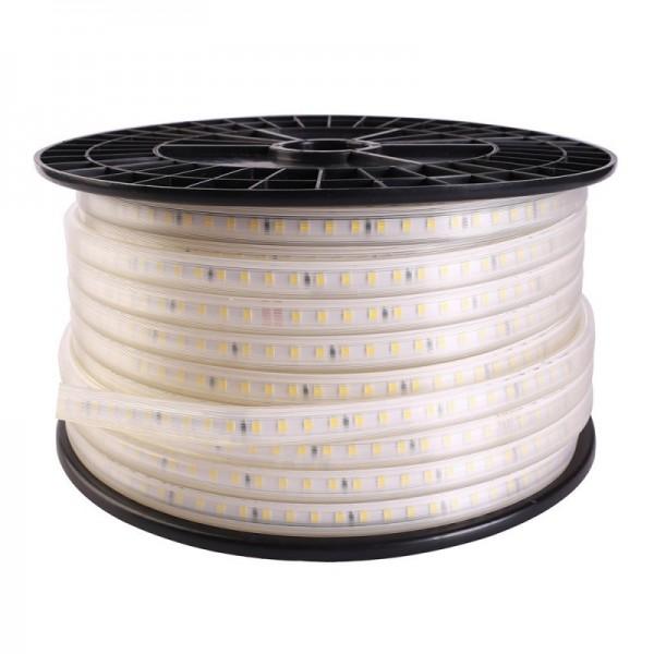 Fita LED 220V SMD2835 75LED/m Bobina 50 metros com Conectores Rápidos Branco Quente 2700K - 8435568914674