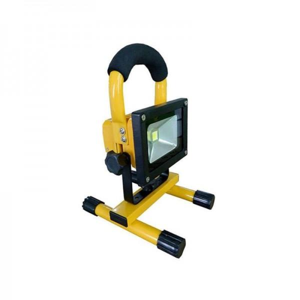 Projector LED 10W com Bateria Recarregável Branco Frio - 8428350615729